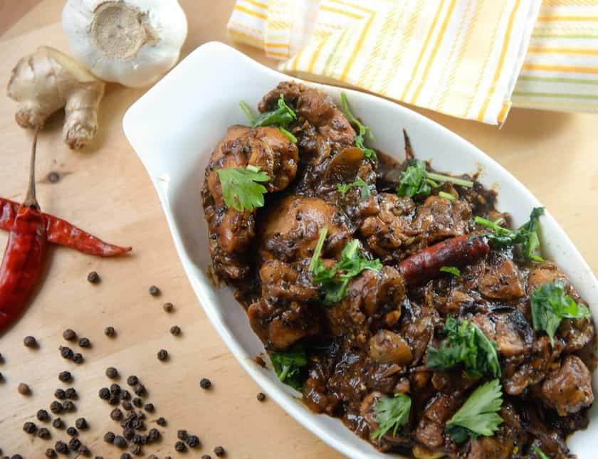 Delicious Pepper Chicken served hot and spicy