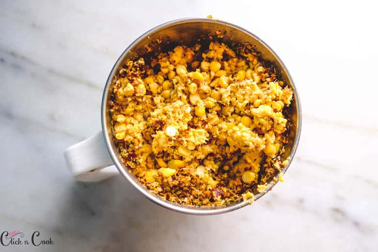 coarsely grind channa dal in blender