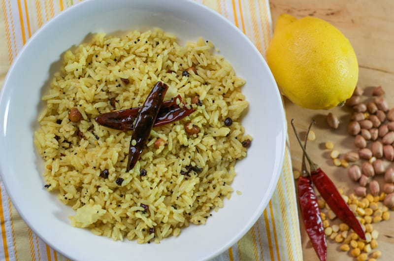 Lemon Rice | Flavoured Lemon Rice | Easy Lunch Recipe