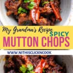 Mutton chops served in bowl