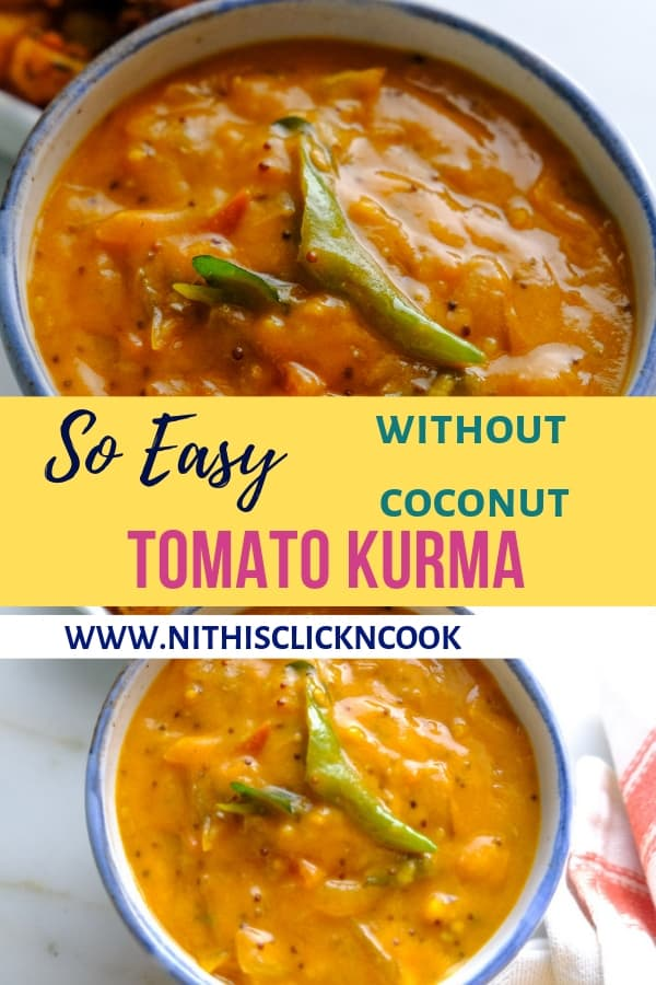 tomato kurma served in small bowl