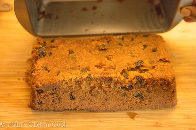 Care fully demould the tray!! Tada Your Plum cake is ready!!