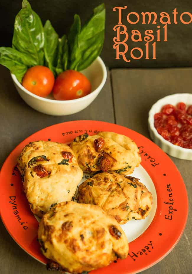 Tomato and Basil Rolls | Quick Sun Dried Tomato Basil Rolls