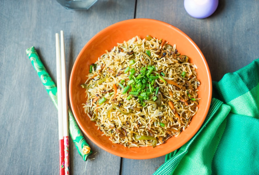Fried Rice Recipe Indo-chinese Style | How to make Fried Rice Restaurant style
