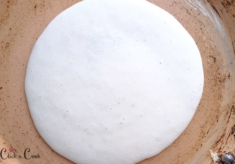 dosa is made is pan