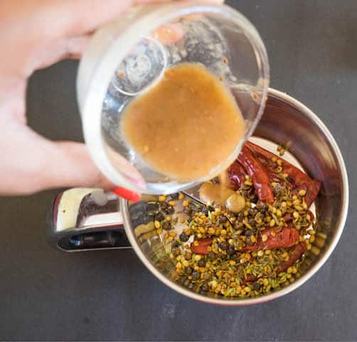 pour in some tamarind pulp
