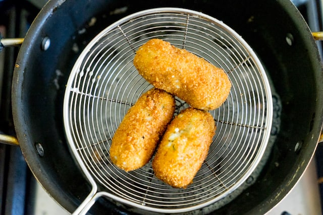 Fry them till its golden brown.. it takes 4 to 5 mins in medium flame.