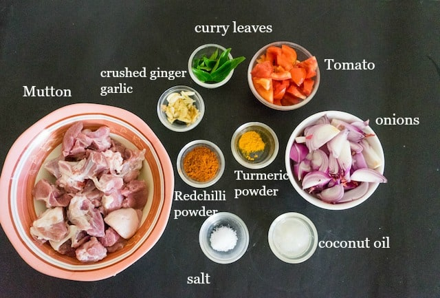 Take all our mutton curry ingredients..