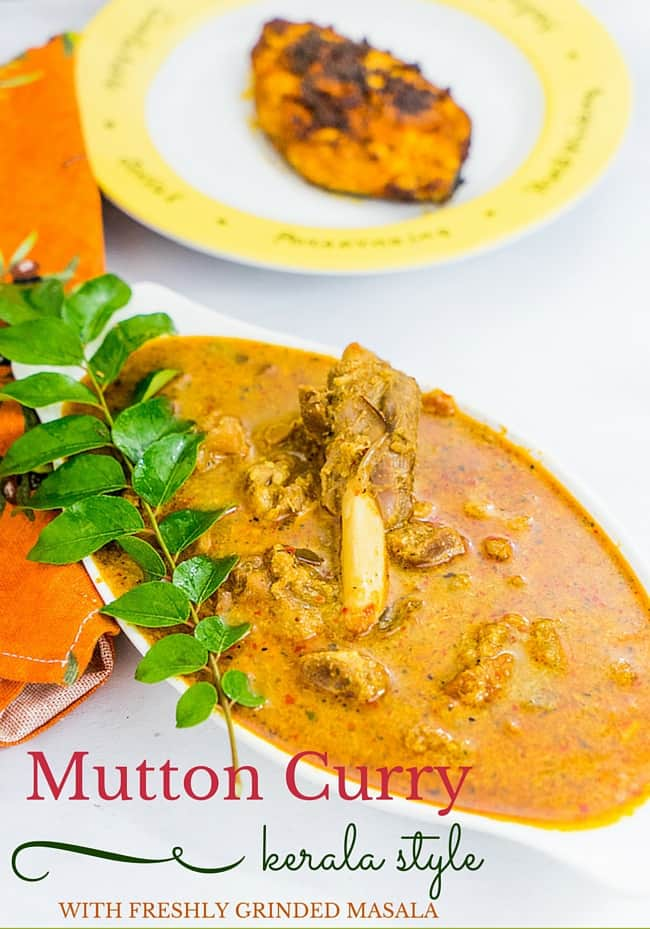 Kerala Mutton Curry Recipe | Mutton Gravy with coconut