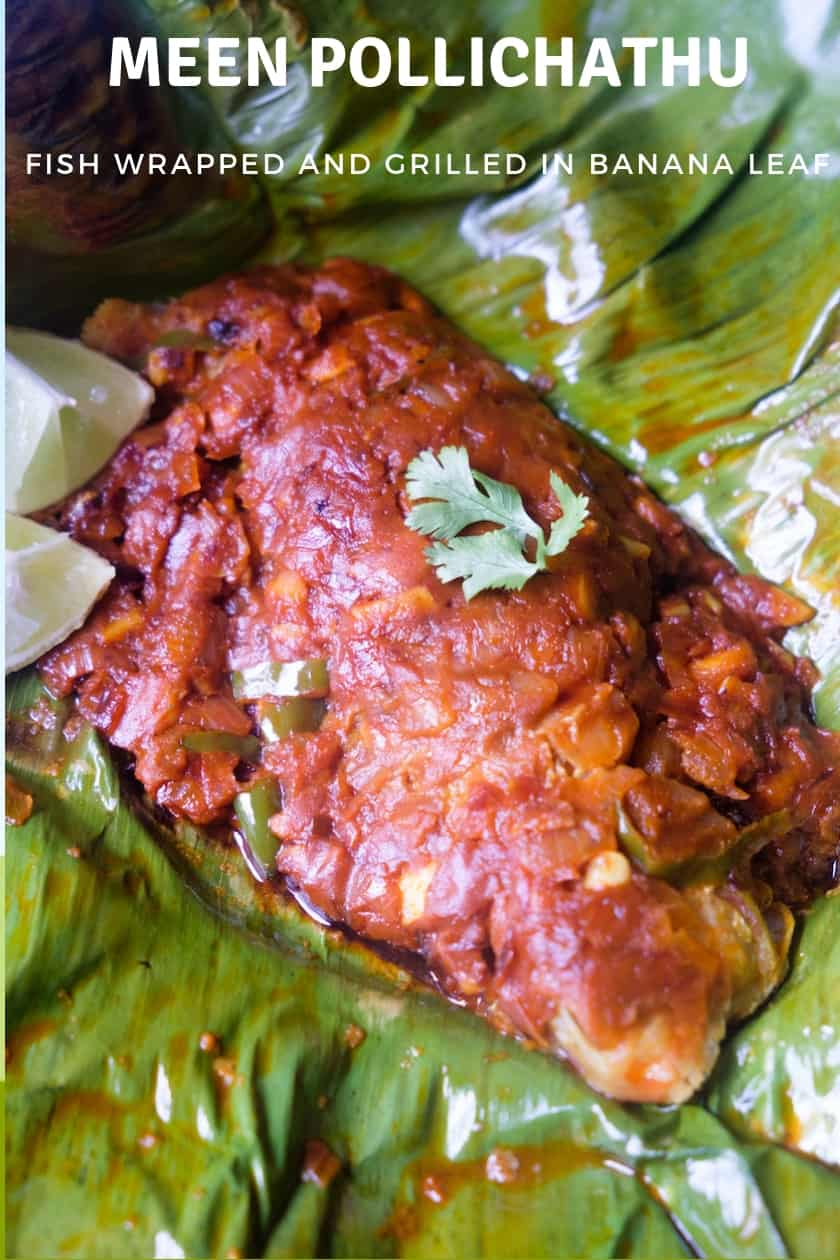 Meen Pollichathu recipe (Fish roasted in banana leaf)
