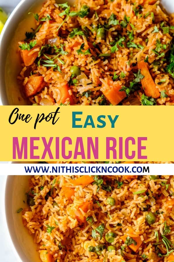 Fluffy, super easy Mexican Rice  infused with bundle of flavours truly the tastiest mexican recipe ever! Perfect for your lazy days's and the best part is everything in ONEPOT! #mexicanrice #mexicanrecipes #easymexicanrice