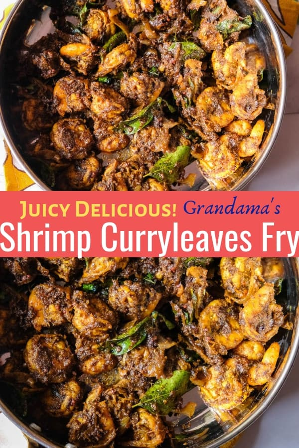 Delicious prawn fry with homemade curry leaves masala that makes this recipe extremely outstanding! It's wonderfully easy, great for accompaniment or even as a starter! The outbursting flavors of the prawns certainly are your most favorite one! It's juicy and also incredibly amazing! #CurryLeavesPrawnFry #PrawnFry #PrawnMasala