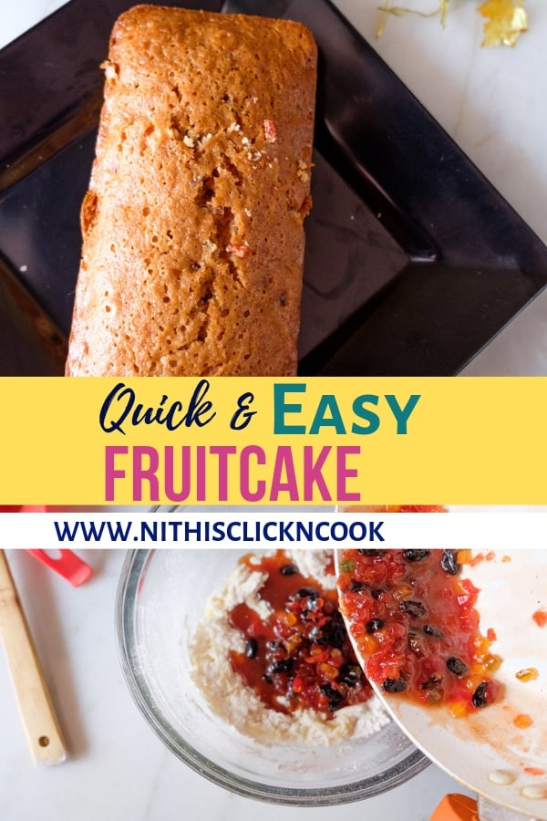 This Non-alcoholic Easy Fruit Cake recipe is incredibly quick to make,no-fruit soaking required ultimately moist and perfect for your holiday's table. This recipe going to be a last-minute saviour and stress-free cake!