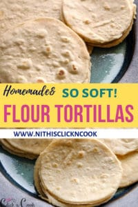 flour tortillas served in plate