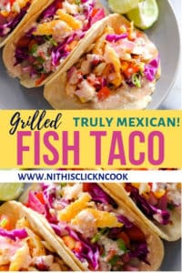 fish taco served plate