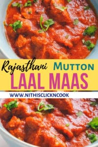 laal maas is served in bowl