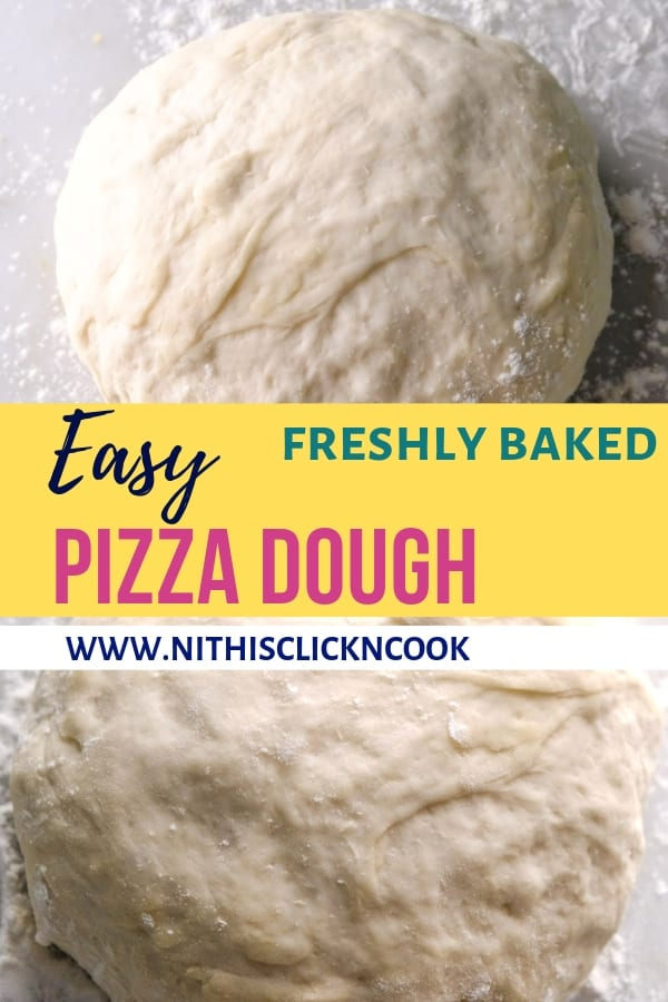 pizza dough dusted with flour