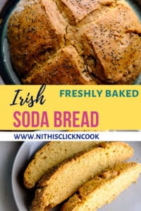 Freshly baked irish soda just out of the oven