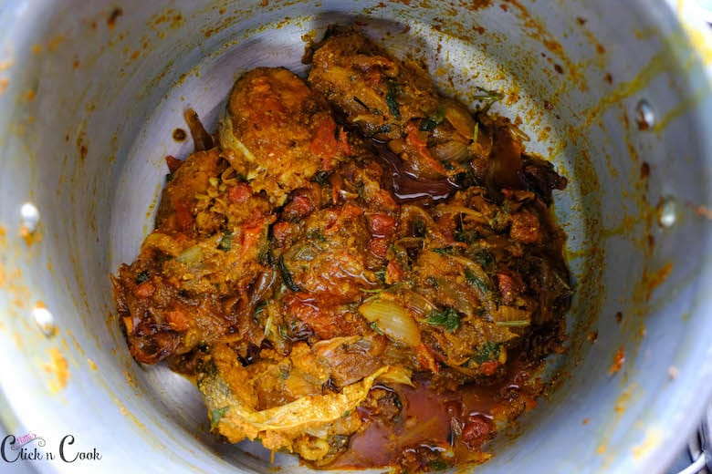 fish masala is taken in deep pot