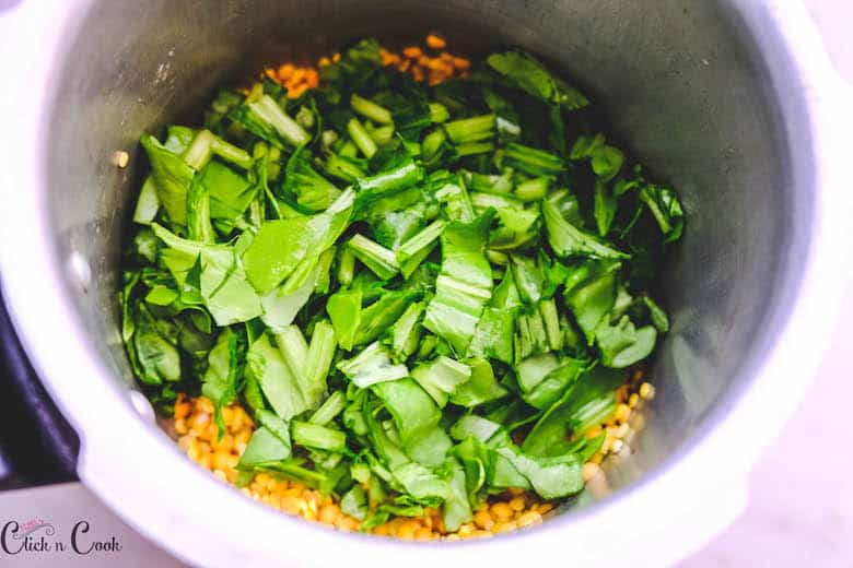 spinach in pressure cooker