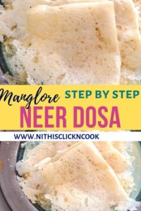 Neer Dosa served in plate