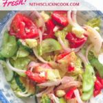 Greek salad recipe served in bowl