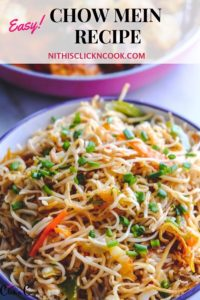 chow mein noodles served in bowl