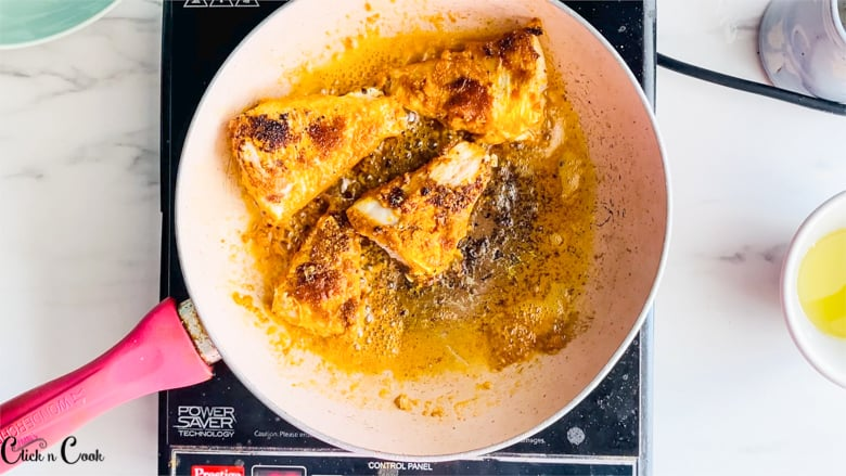 fish fry recipe is being fried in oil