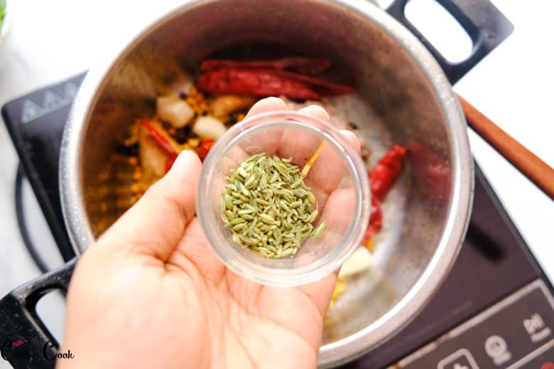 a glass bowl of fennel seeds