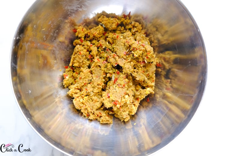 Minced mutton in a bowl