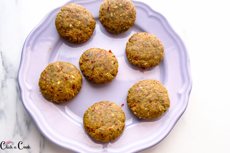 mutton kebab are placed in grey plate
