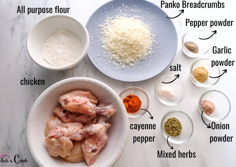 ingredients to make buffalo chicken are taken