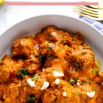 chicken tikka masala served in bowl