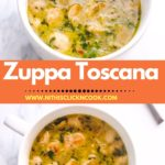zuppa toscana soup served in the bowl