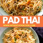 padthai served in the bowl